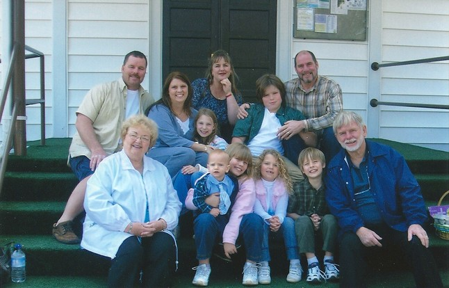 Bonnie Strauch Wirth & John Wirth with their family